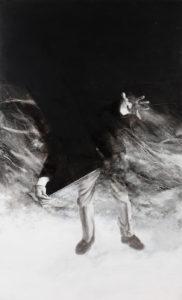 »Hybris IV«, 2012, Kreide auf Leinwand, je 150 x 90 cm, Foto © Hans Wetzelsdorfer