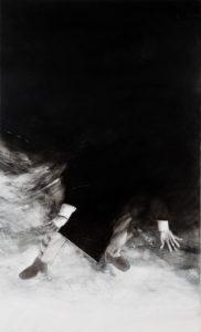»Hybris V«, 2012, Kreide auf Leinwand, je 150 x 90 cm, Foto © Hans Wetzelsdorfer