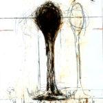 Christian Bolt Skizzen zu: »Das Leitmotiv oder die Wort-Ton-Melodie des R. Wagner«, 2012, Bleistift/Tusche auf Papier, Fotos © Hans Wetzelsdorfer